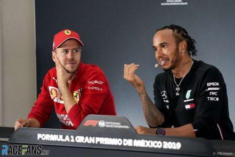 Sebastian Vettel, Lewis Hamilton, Autodromo Hermanos Rodriguez, 2019
