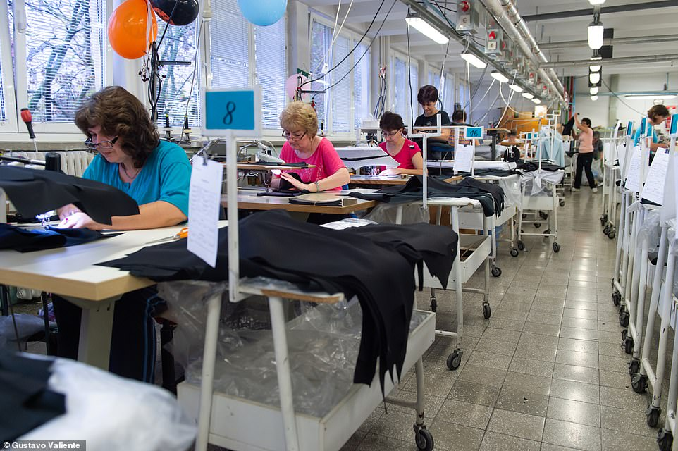 Beriv's epicentre is the sewing room on the second floor, which is made up of two production lines of 25 women each where the McCartney's coat was made along with all her other coats and jackets as they work five days a week, eight hours a day