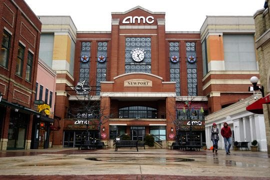 The AMC Theater at Newport on the Levee