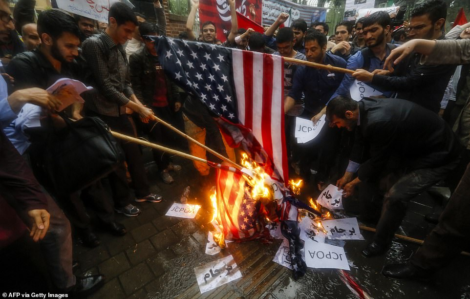 Often demonstrators shout 'Death to America' or death to which ever country's flag they happen to be burning at the time