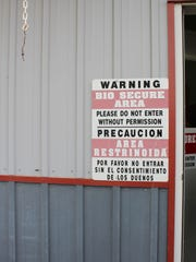 Biosecurity is of the utmost importance at Soaring Eagle Dairy in the prevention of introducing disease into the milking herd.