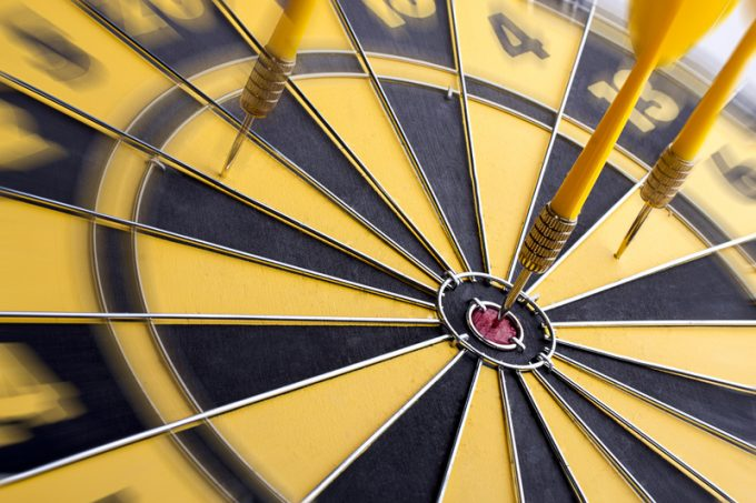 Focus of target