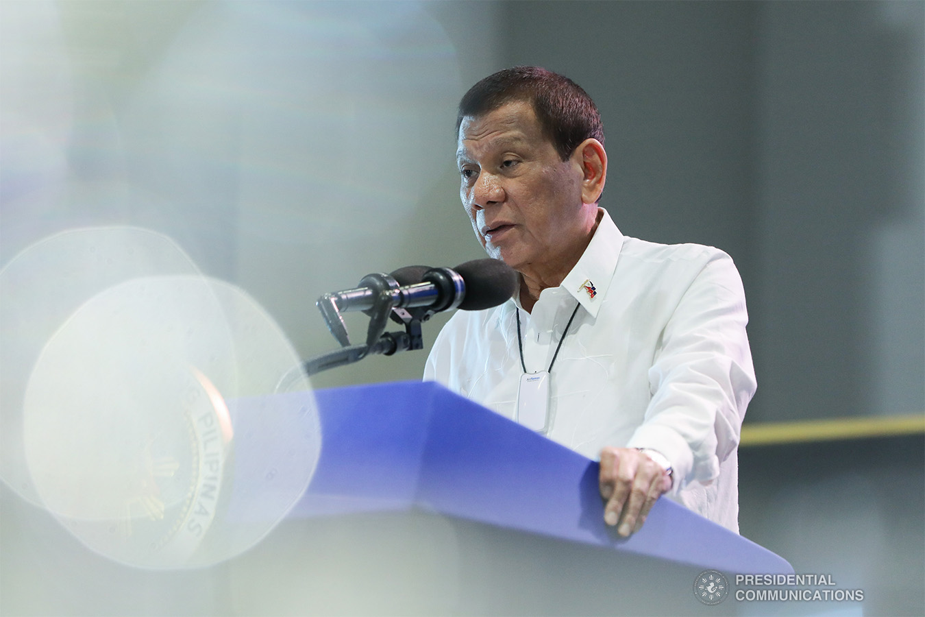 President Rodrigo Roa Duterte delivers a speech during a meeting with local chief executives at the SMX Convention Center in Pasay City on February 10, 2020. (ALFRED FRIAS/PRESIDENTIAL PHOTO / MANILA BULLETIN)