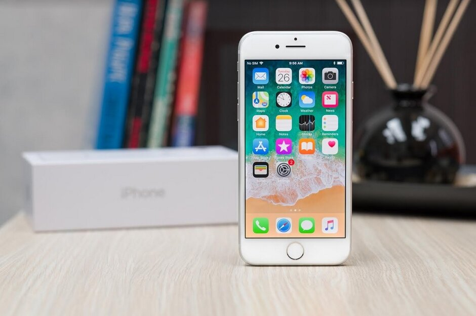 Production of the iPhone 9, which looks like the iPhone 8 pictured, is supposed to start this month - Resumption of iPhone production is up in the air