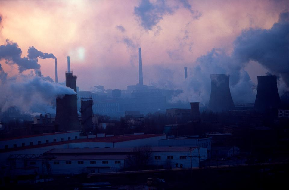 China - Environment - Industry - Sun Sets on Bao Steel Mill