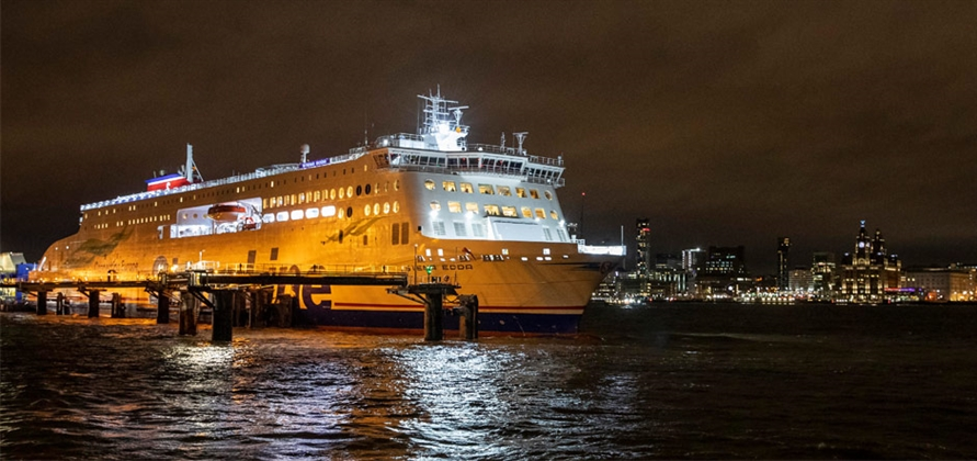 Stena Edda sails maiden voyage across the Irish Sea