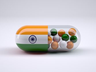 capsule with Indian flag on one side