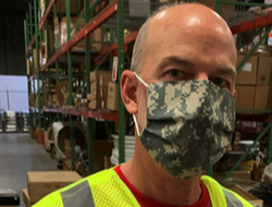 DC employee wearing mask
