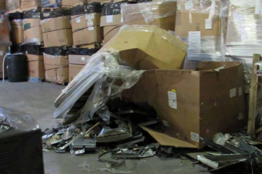 CRT materials spilled in the former Closed Loop facilitiy.