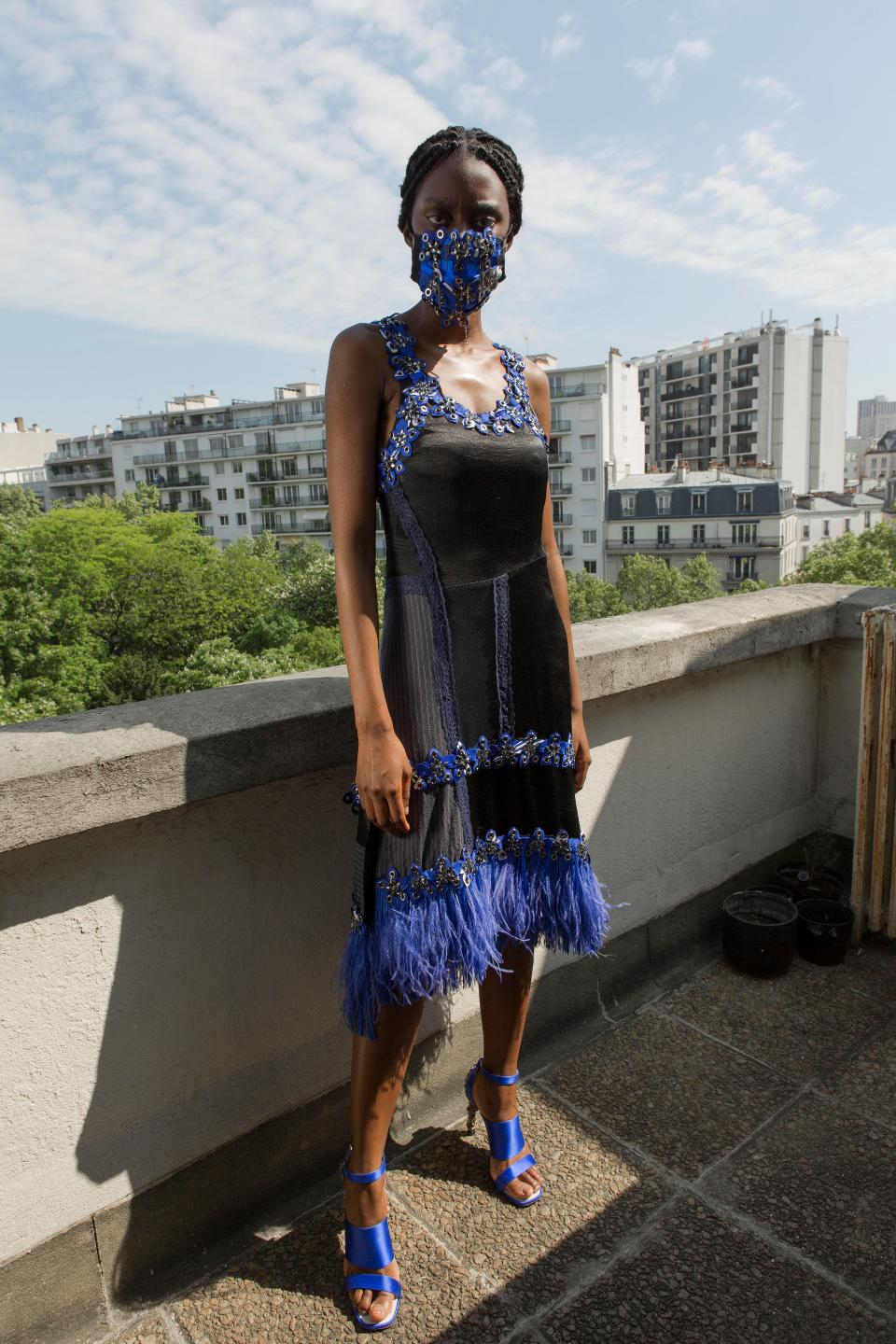 One of the latest Koché's dress created during lockdown