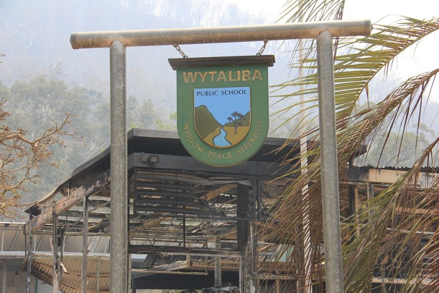 Wytaliba Public School is now little more than a sign.