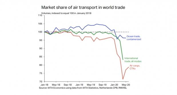 Air cargo lost world trade share to cheaper but slower ocean & rail: IATA