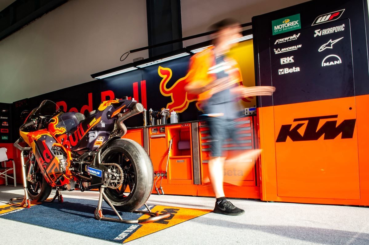 """The KTM brand is one with a very clear message: """"ready to race."""" These two bikes are indeed """"ready to race"""" and they are the only two motorcycles sold in the last half century that are immediately capable of being ridden competitively in the world's highest level of motorcycle competition. At €288,000 (approx. US$340,000) plus VAT, these bikes are being sold for a lot less than they cost to build."""