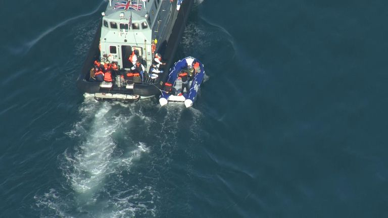 Border Force cutters rescued migrants from small dinghys