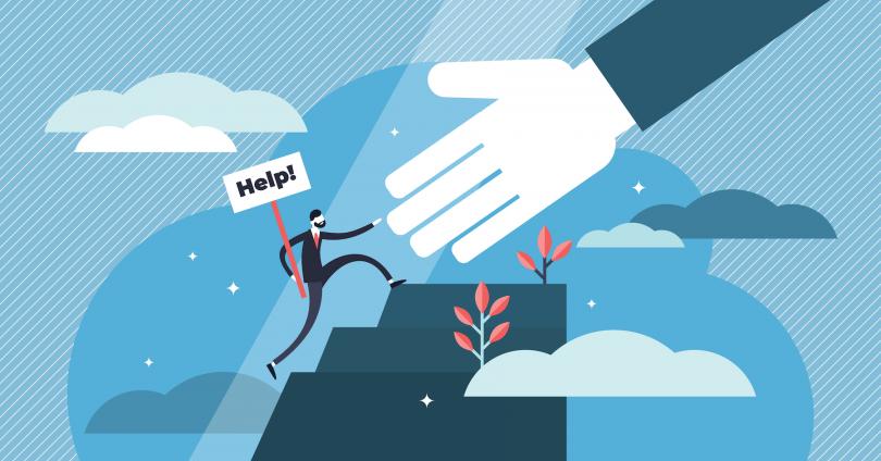 Helping customers illustration