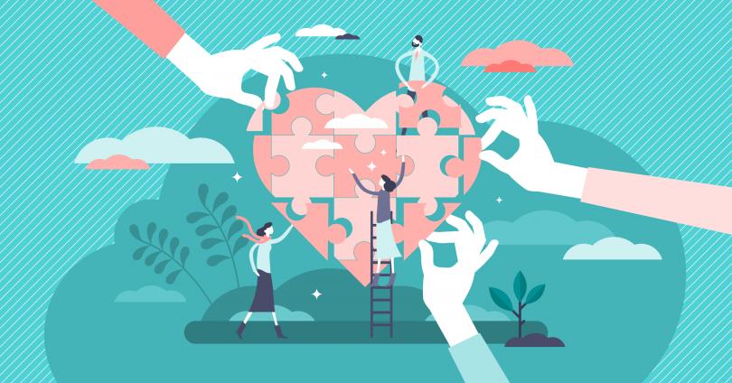 Happy customer base illustration