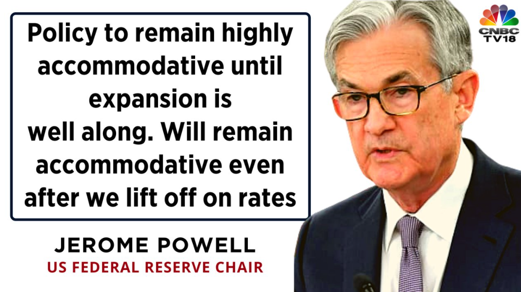 US Fed's Powell forecasts keeping interest rates at zero, inflation at 2% through 2023