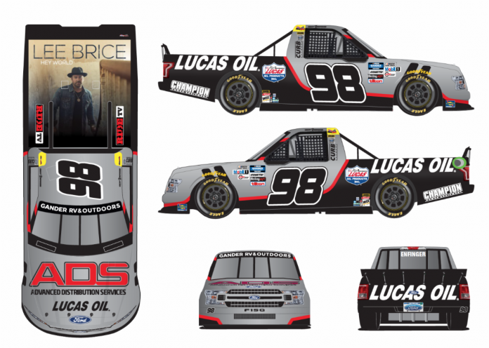 Advanced Distribution Services will make its NASCAR debut this weekend on the hood of Grant Enfinger's Ford F-150 at Bristol Motor Speedway.