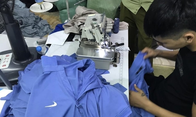 Fake branded T-shirts seized from Hai Duong factory
