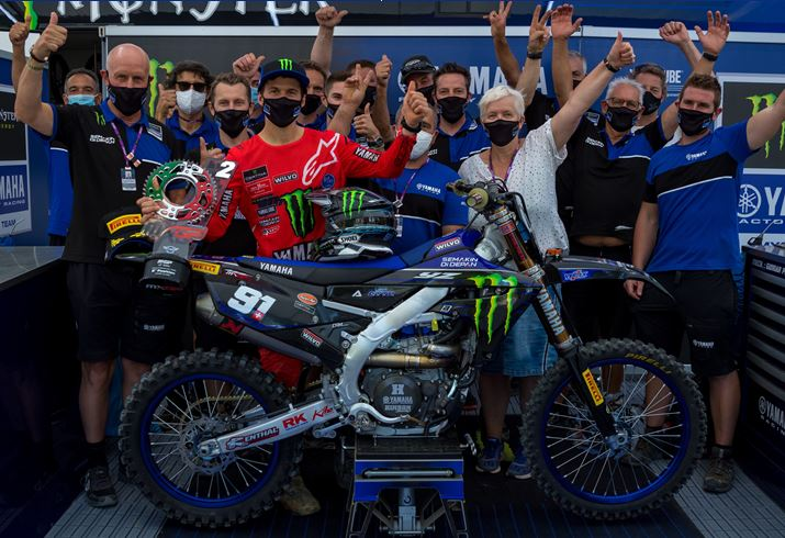 Monster Energy Yamaha Factory MXGP's Jeremy Seewer storms to second overall at Italian Grand Prix