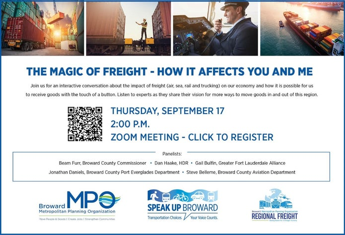 The Magic of Freight - A ZOOM Meeting with Broward Leaders