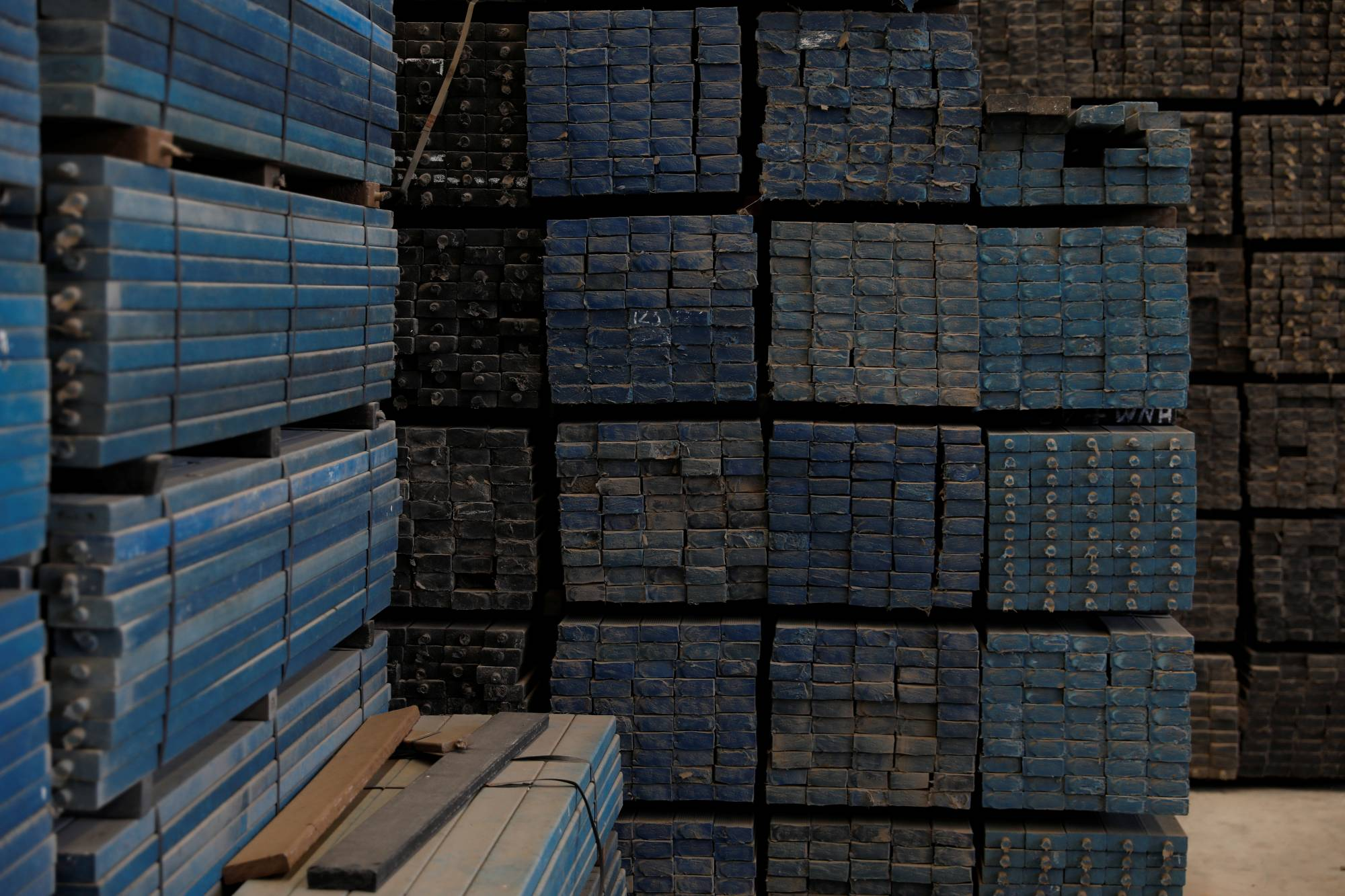 Recycled plastic strips at an Extruplas plant in Seixal, Portugal   REUTERS