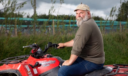 Derek Gow on his farm in Devon.