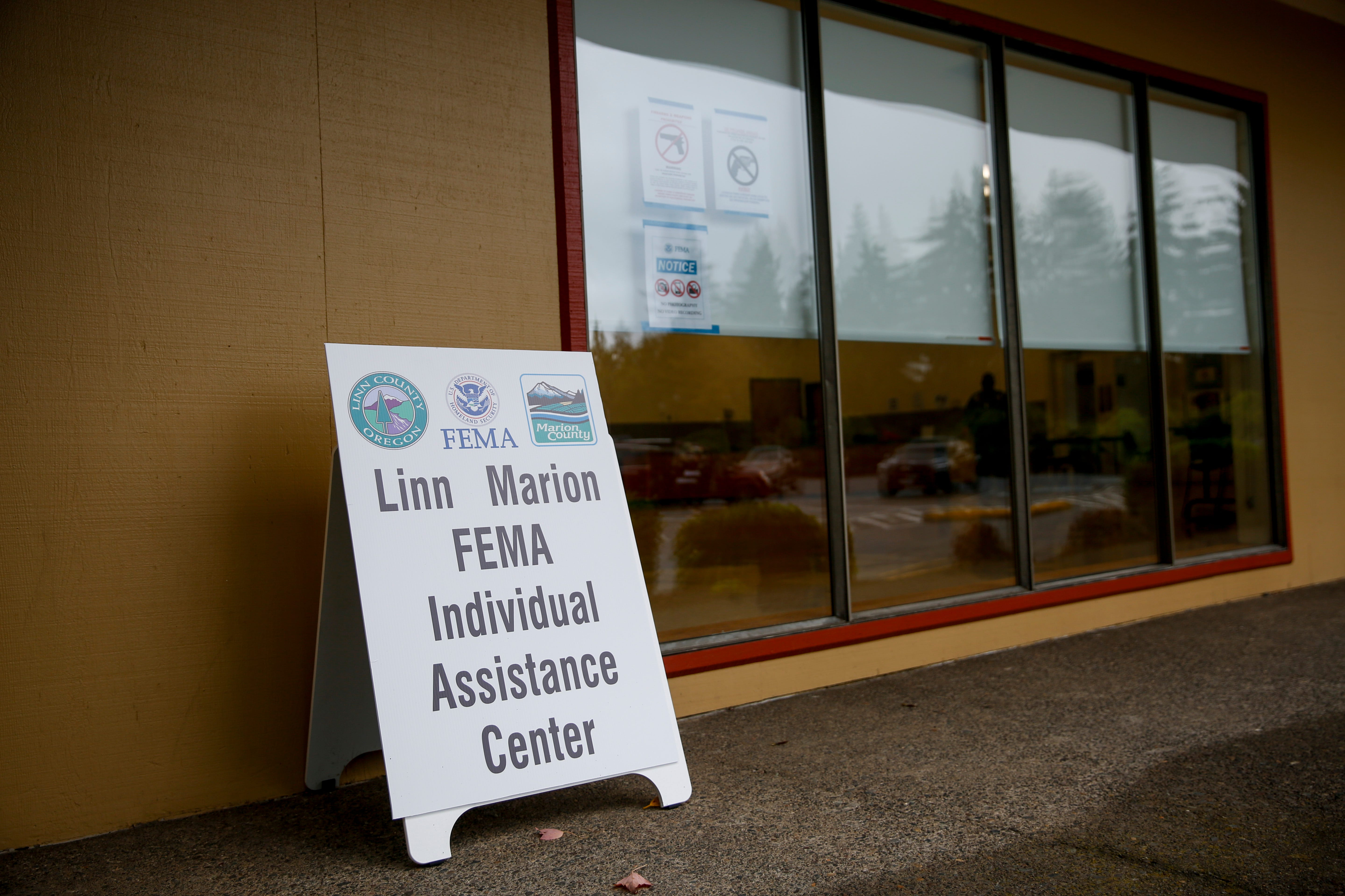 Resources are available through FEMA for Santiam Canyon residents recovering from the wildfires on Monday, Oct. 12, 2020 at the Community Center in Stayton, Oregon.