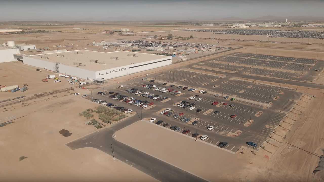 Lucid Motors Factory Construction Update 10/13/2020 (source: Oneshot Creative)