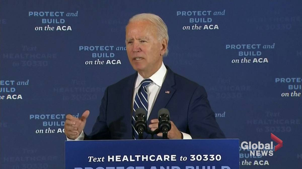 Click to play video 'Coronavirus: Biden says pandemic is worsening, blames Trump'