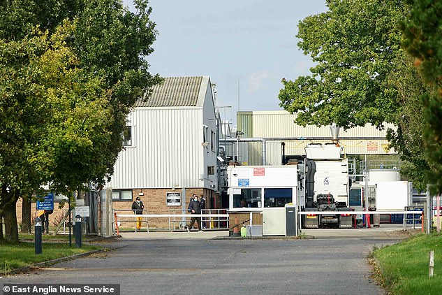 Seventy-two positive infections were found at the company's food processing facility in Holton near Halesworth (pictured) last month