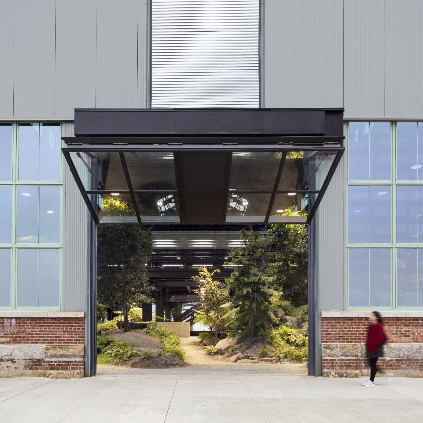 Entrance of Crye Precision Headquarters by MN DCP in Brooklyn, New York