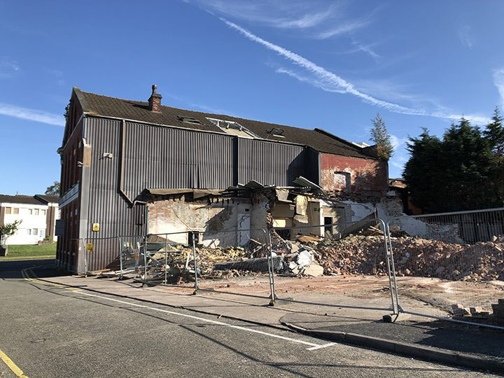 Demolition at former Thomas Powell and Son Ltd biscuit factory Pic: Blog Preston