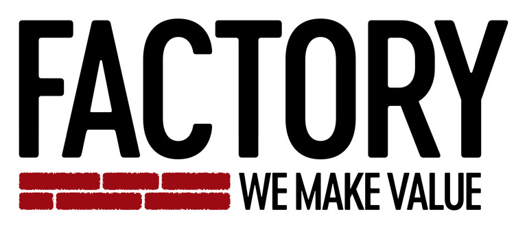 logo for Factory with tagline We Make Value