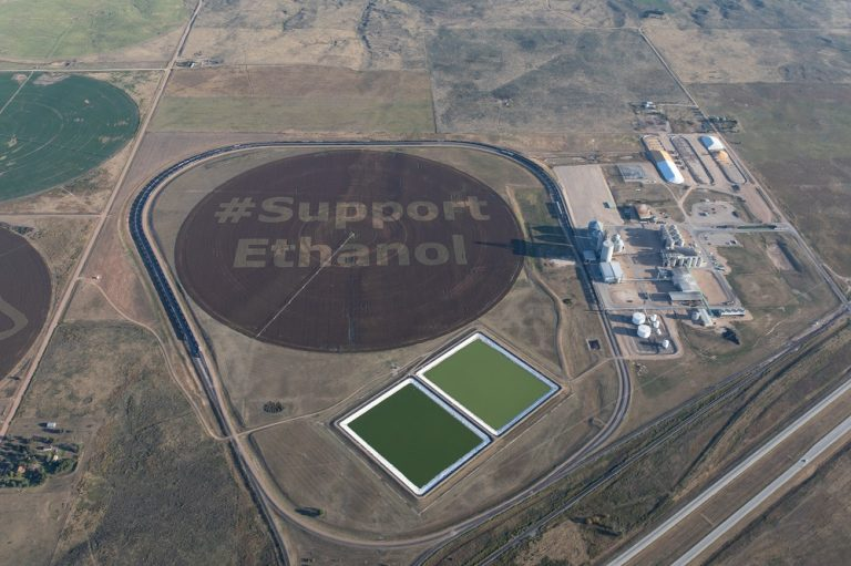 An aerial view of the message