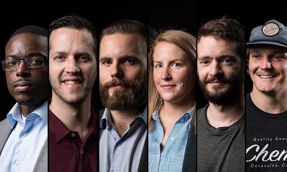 six portraits of students