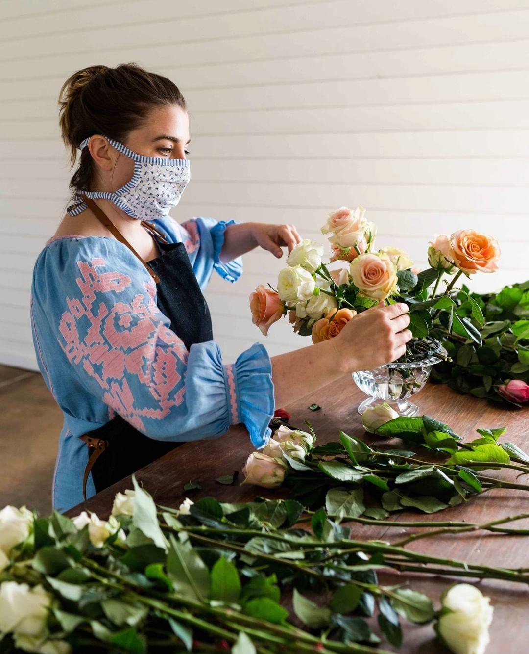 Cameron Hardesty cutting fresh stems
