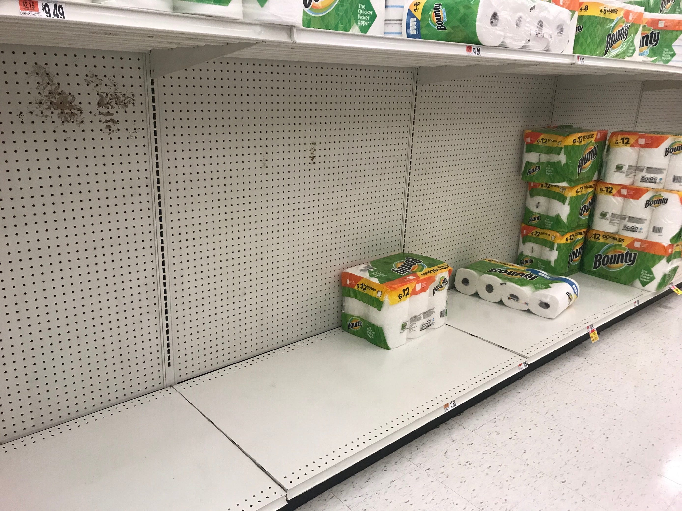 Empty shelves at a Stop & Shop on Lakewood Road in Toms River as buyers prepared to deal with the coronavirus. Thursday, March 12, 2020
