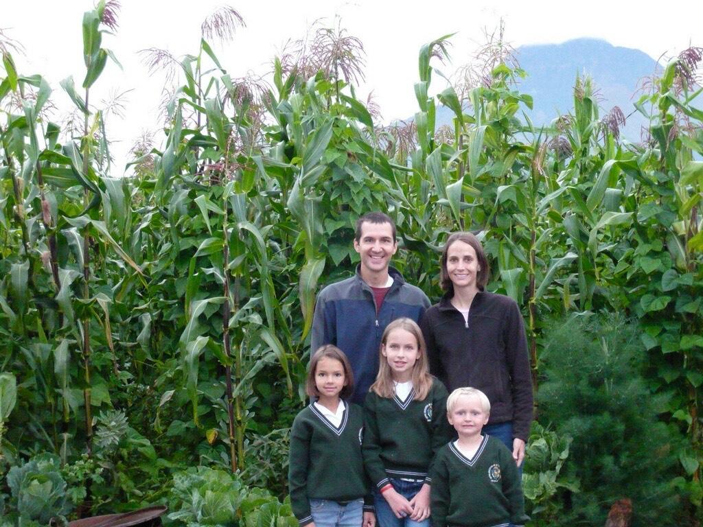 Lefler and her family in Ecuador