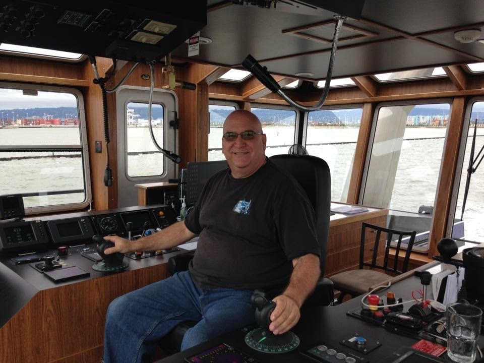 Arizona resident David Cadiz, shown at the controls of a tugboat in San Francisco Bay.