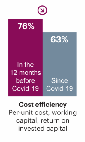Percentage of Companies Who Rated Cost Efficiency as Their Top Target