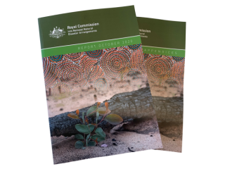 The Royal Commission's final report was tabled in parliament on 30th October