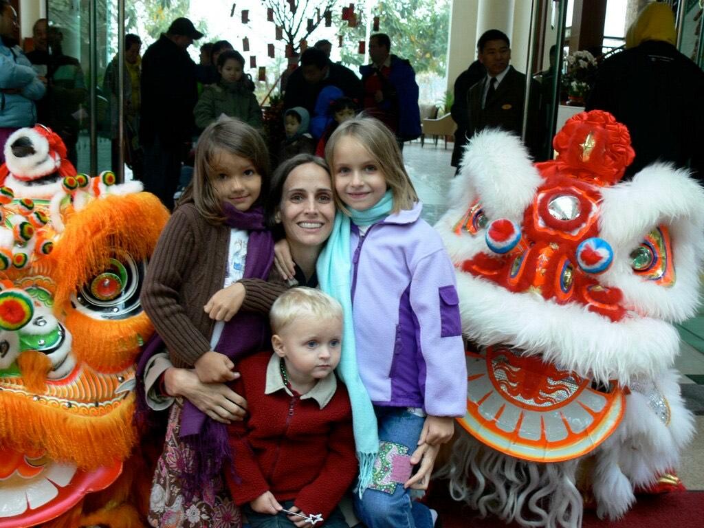 Lefler at Chinese New Year in Hong Kong