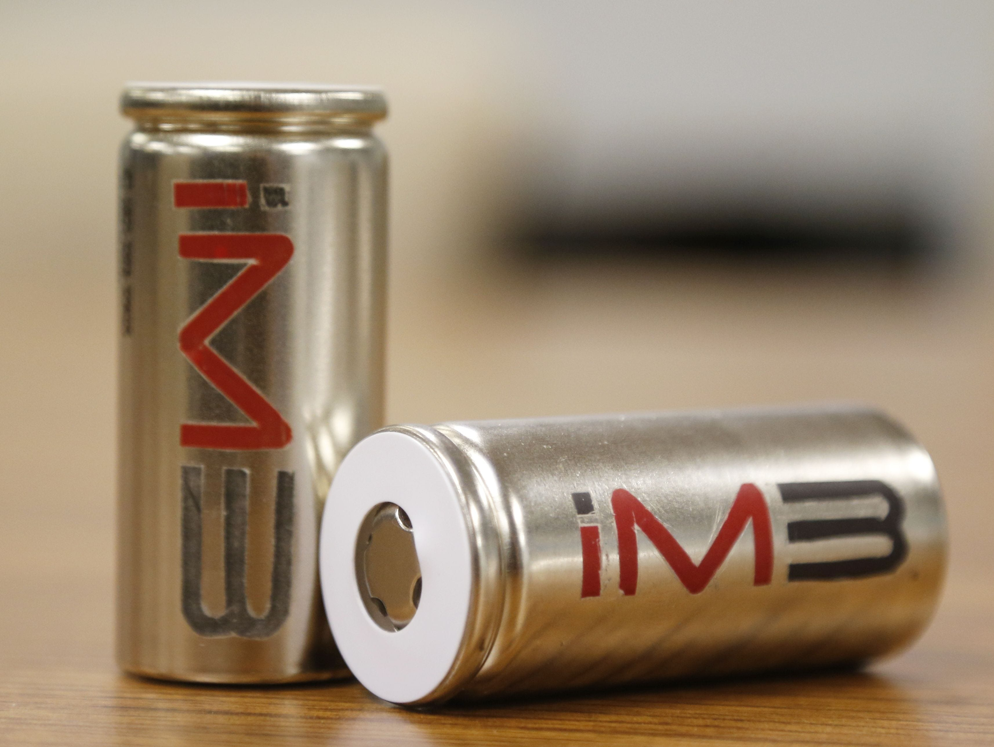 A bank of lithium ion battery cells produced by iM3NY
