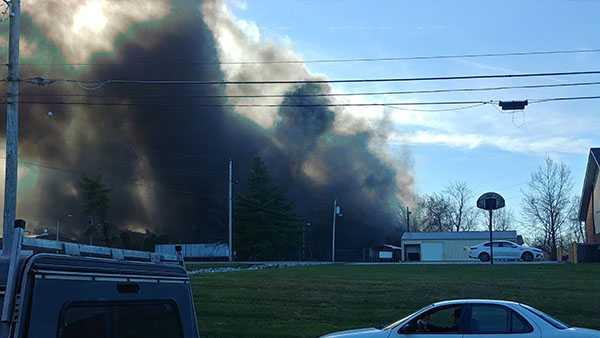 Fire in Scottsburg