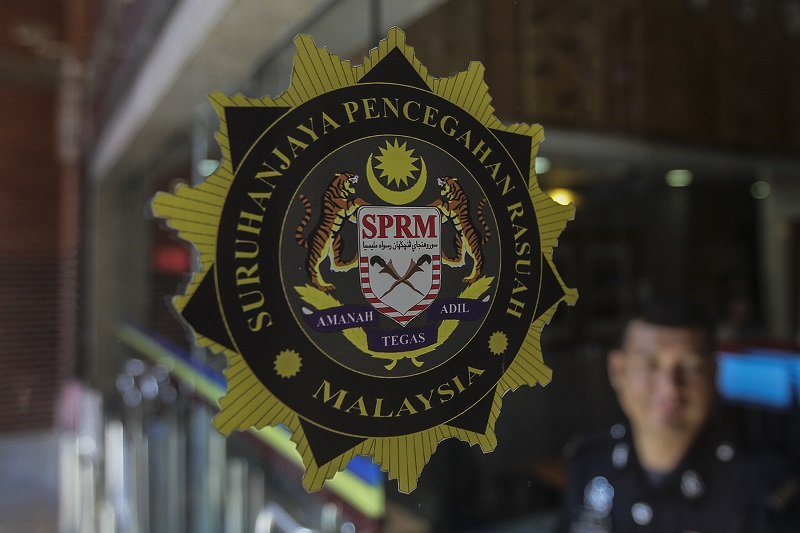 The Malaysian Anti-Corruption Commission's logo is seen in Putrajaya June 21, 2017. — Picture by Yusof Mat Isa