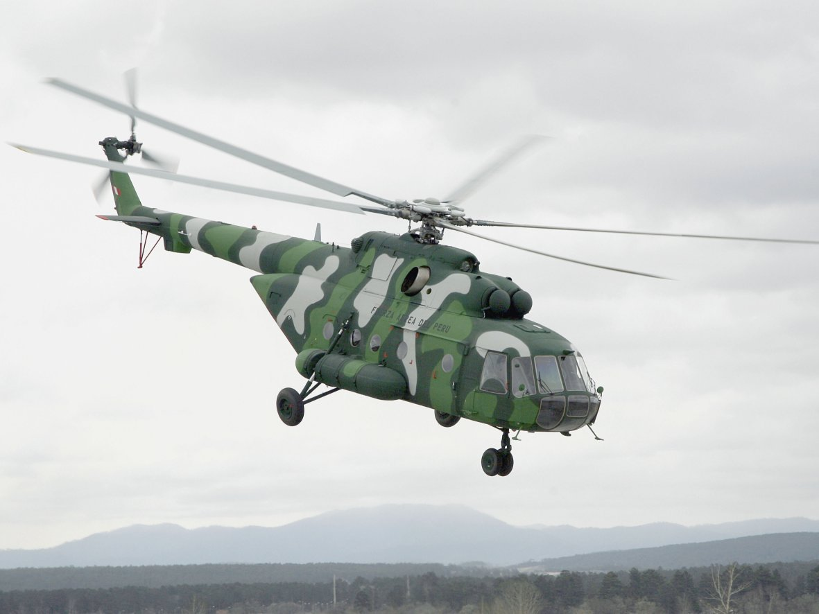 The Philippine Air Force is looking to procure 16 Mil Mi-171 helicopters (similar to this Peruvian Air Force example) for about USD265 million. (Russian Helicopters)