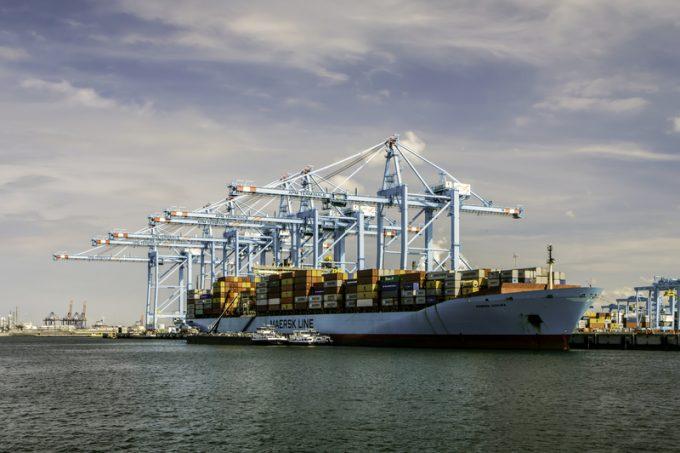 maersk vessel in Rotterdam