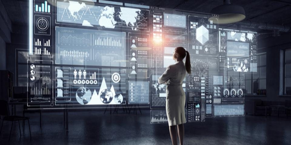 Women looking at Data Analytics