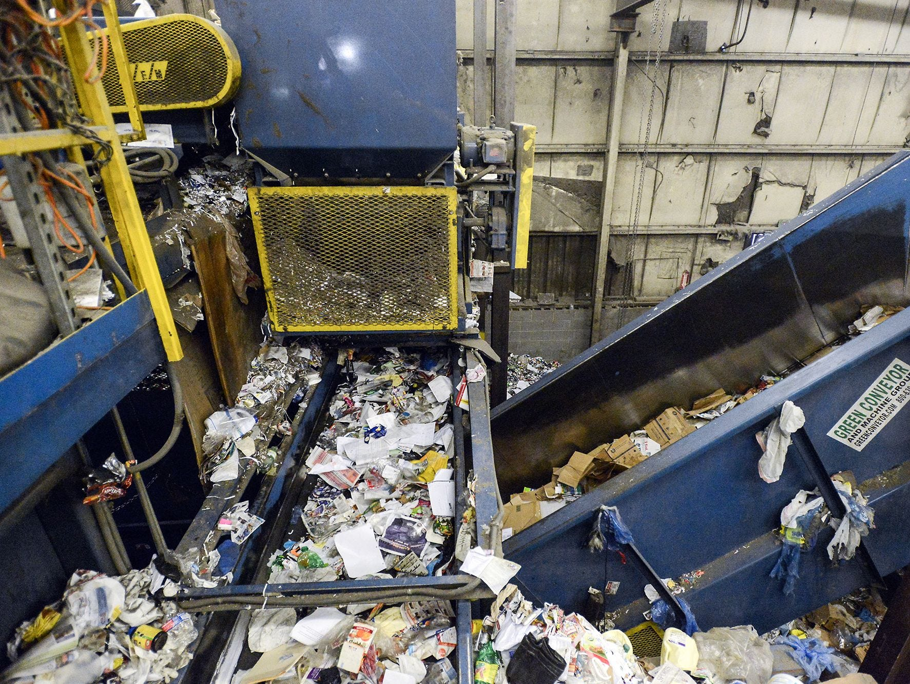 """One part of the problem with trash going into recycling is """"wishful recycling,"""" in which people put items they hope can be recycled in the recycling bin, even though they're not recyclable items."""